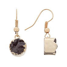 Buy Decadorn 9ct Gold Plated Dropper Earrings, Amethyst Online at johnlewis.com