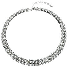 Buy John Lewis Diamanté Rhodium Plated Statement Collar Necklace, Silver Online at johnlewis.com