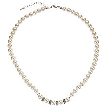 Buy John Lewis Pearl Cluster Necklace, White Online at johnlewis.com
