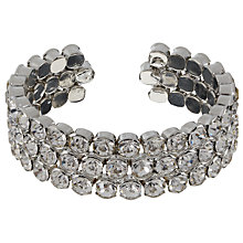 Buy John Lewis Statement Diamante Cuff, Rhodium Online at johnlewis.com