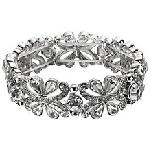 Buy John Lewis Cubic Zircona and Crystal Stretch Cuff Bracelet, Diamante Online at johnlewis.com