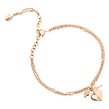Buy Dinny Hall Rose Gold Plated Lotus Petal Bracelet, Rose Gold Online at johnlewis.com