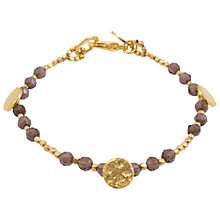 Buy Azuni Semi Precious Stone and Coins Bracelet, Smokey Quartz Online at johnlewis.com