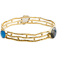 Buy Azuni Three Stone Triple Band Bangle, Gold Online at johnlewis.com
