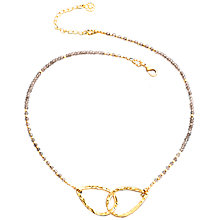 Buy Azuni New Athena Smokey Quartz Bow Necklace, Brown Online at johnlewis.com