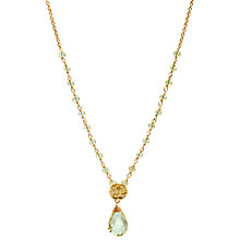 Buy Azuni 24ct Gold Plated New Stone and Disc Necklace Online at johnlewis.com