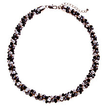 Buy John Lewis Twist Pearl Necklace, White/Black Online at johnlewis.com