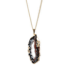 Buy Decadorn 9ct Gold Plated Halo Geode Large Pendant, Blue Online at johnlewis.com
