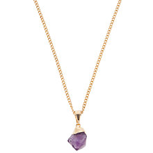 Buy Decadorn 9ct Gold Plated Hand Carved Small Amethyst Pendant, Purple Online at johnlewis.com