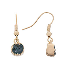 Buy Decadorn 9ct Gold Plated Drusy Dropper Earrings, Blue / Gold Online at johnlewis.com