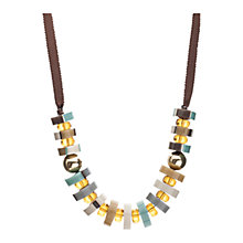 Buy One Button Acrylic Discs and Beads Cord Necklace, Multi Online at johnlewis.com