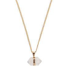 Buy Decadorn 9ct Gold Plated Prism Pendant Online at johnlewis.com