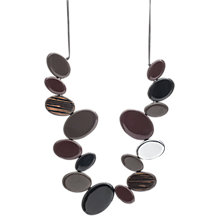 Buy One Button Flat Elipse Beads Cord Necklace, Brown Online at johnlewis.com