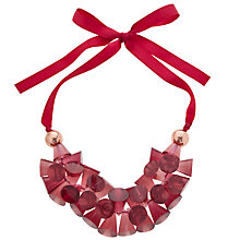Buy One Button Cone Clusters Ribbon Necklace Online at johnlewis.com