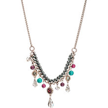 Buy One Button Bead and Stone Drop Cord Necklace Online at johnlewis.com