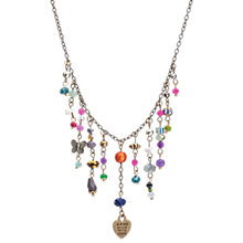 Buy One Button Waterfall Beads Chain Necklace, Multi Online at johnlewis.com
