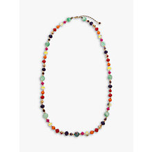 Buy One Button Bright Bead Long Necklace, Multi Online at johnlewis.com