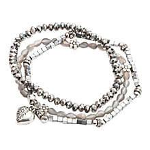 Buy One Button Triple Row Sparkle Bracelet Online at johnlewis.com