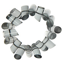 Buy One Button Acrylic Tubes Bracelet, Grey Online at johnlewis.com