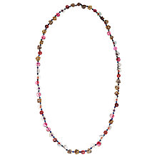 Buy One Button Double Strand Button Necklace, Multi Online at johnlewis.com