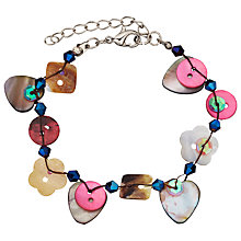 Buy One Button Button Bracelet, Multi Online at johnlewis.com