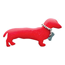 Buy One Button Dolly' Sausage Dog Brooch Online at johnlewis.com