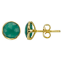 Buy John Lewis Gemstones Gold Plated Round Stud Earrings Online at johnlewis.com