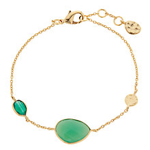 Buy John Lewis Organic Tear Drop Bracelet, Dark Green Online at johnlewis.com