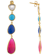 Buy John Lewis Gemstones Gold Plated Lapis Quadruple Drop Earrings, Multi Online at johnlewis.com