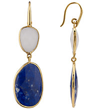 Buy John Lewis Organic Stones Double Drop Earrings Online at johnlewis.com