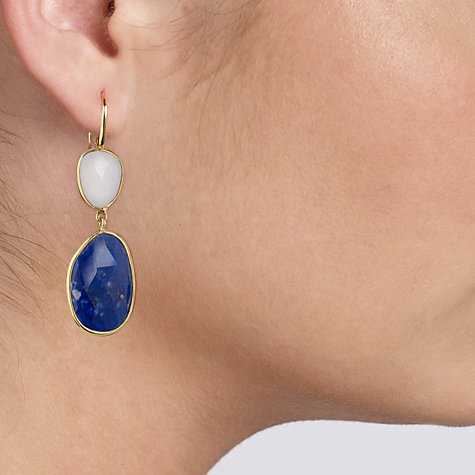 Buy John Lewis Gemstones Gold Plated Double Drop Earrings Online at johnlewis.com