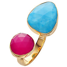 Buy John Lewis Large & Small Stone Mixed Teardrop Ring, Turquoise /  Red Online at johnlewis.com