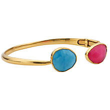 Buy John Lewis Gemstones Gold Plated Hinged Cuff Bangle Online at johnlewis.com