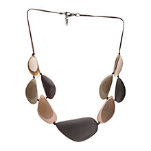 Buy One Button Sandwich Pebbles Cord Necklace, Brown Online at johnlewis.com