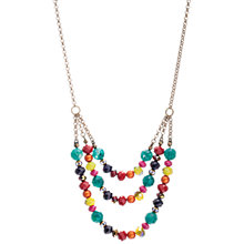 Buy One Button Triple Strand Bright Beads Necklace, Multi Online at johnlewis.com