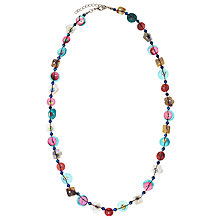 Buy One Button Single Strand Button Necklace, Multi Online at johnlewis.com