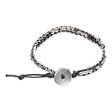 Buy One Button Woven Friendship Bracelet Online at johnlewis.com