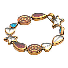 Buy One Button Multi Star Heart Bracelet Online at johnlewis.com