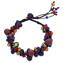 Buy One Button Winter Berry Bracelet, Multi Online at johnlewis.com
