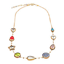 Buy One Button Multi Star Heart Necklace Online at johnlewis.com