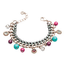 Buy One Button Bead and Stone Drop Cord Bracelet Online at johnlewis.com