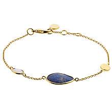 Buy John Lewis Gemstones Gold Plated Lapis Stone Tear Drops Bracelet, Multi Online at johnlewis.com
