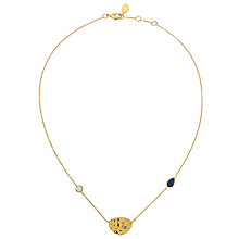 Buy John Lewis Gemstones Gold Plated Lapis Discs Necklace, Multi Online at johnlewis.com