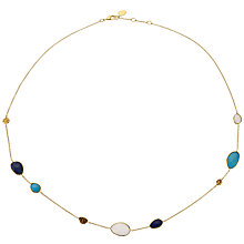 Buy John Lewis Organic Stones Tear Drops Necklace, Multi Online at johnlewis.com