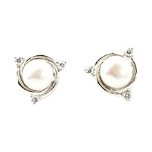 Buy A B Davis Sterling Silver Swirl Freshwater Pearl Earrings Online at johnlewis.com