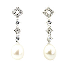 Buy A B Davis Sterling Silver Freshwater Pearl Long Drop Earrings Online at johnlewis.com