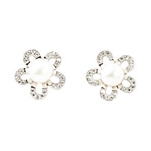 Buy A B Davis Sterling Silver Freshwater Pearl Flower Earrings Online at johnlewis.com