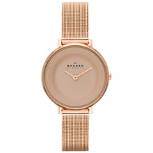 Buy Skagen SKW2213 Women's Ditte Steel Mesh Watch, Rose Gold Online at johnlewis.com