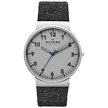 Buy Skagen SKW6097 Men's Stainless Steel Felt Strap Watch, Grey Online at johnlewis.com