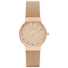 Buy Skagen SKW2197 Women's Ancher Steel Mesh Watch, Rose Gold Online at johnlewis.com